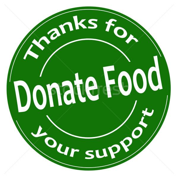 Faire un don vert étiquette texte icône illustration Photo stock © carmen2011