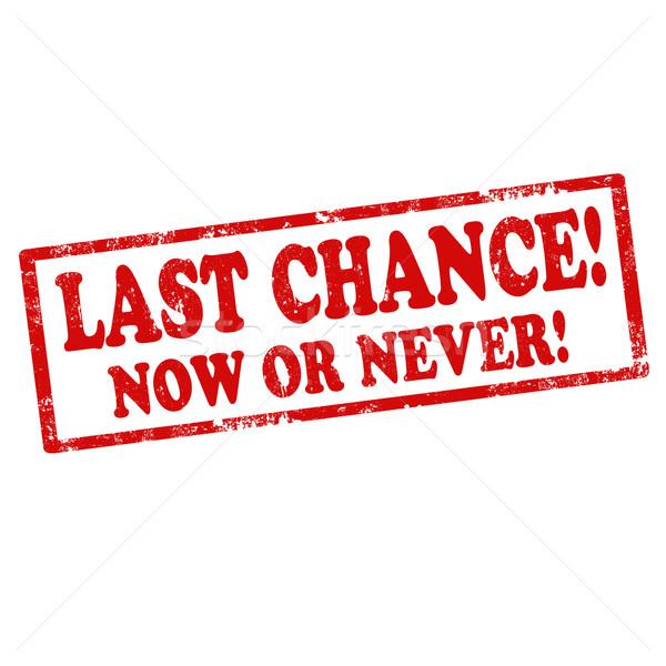 Last Chance-stamp Stock photo © carmen2011