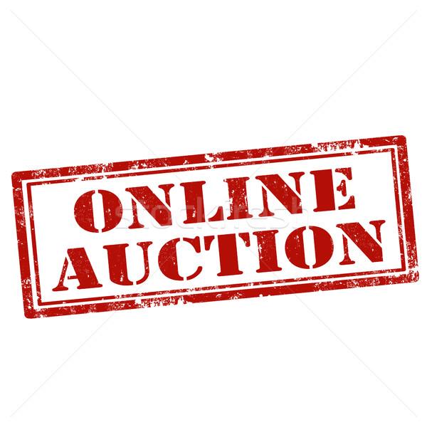 Online Auction-stamp Stock photo © carmen2011