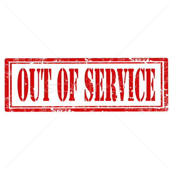 Out Of Service-stamp Stock photo © carmen2011