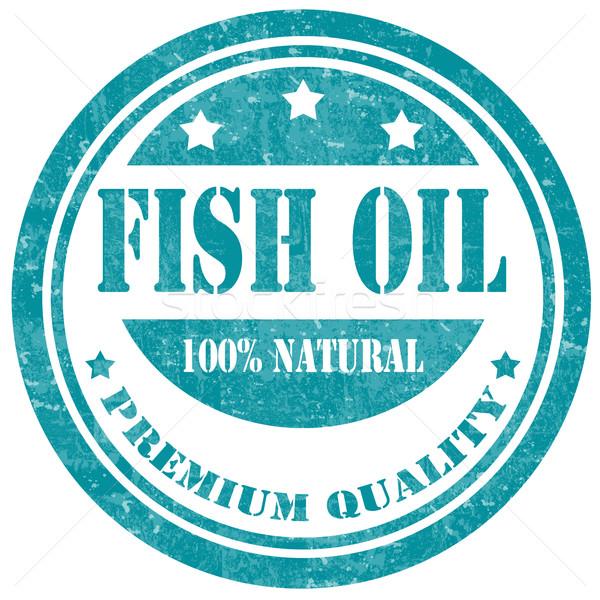 Fish Oil-stamp Stock photo © carmen2011