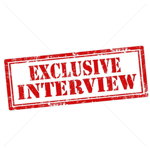 Exkluzív grunge pecsét szöveg interjú gumi Stock fotó © carmen2011