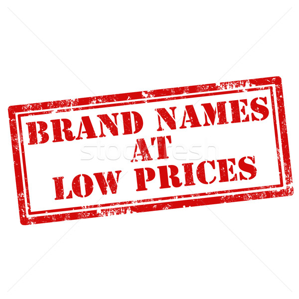 Stock photo: Brand Names At Low Prices