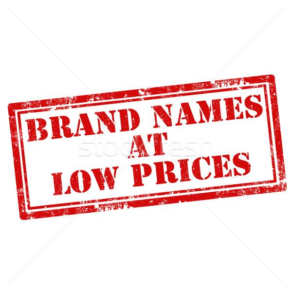 Brand Names At Low Prices Stock photo © carmen2011