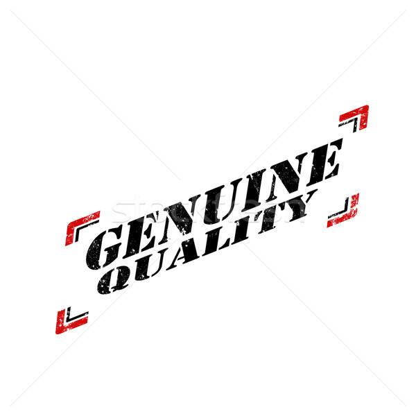 Genuíno qualidade grunge palavra abstrato Foto stock © carmen2011