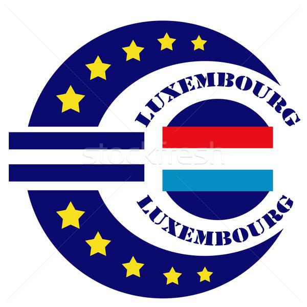 Abstrato etiqueta texto Luxemburgo bandeira euro Foto stock © carmen2011