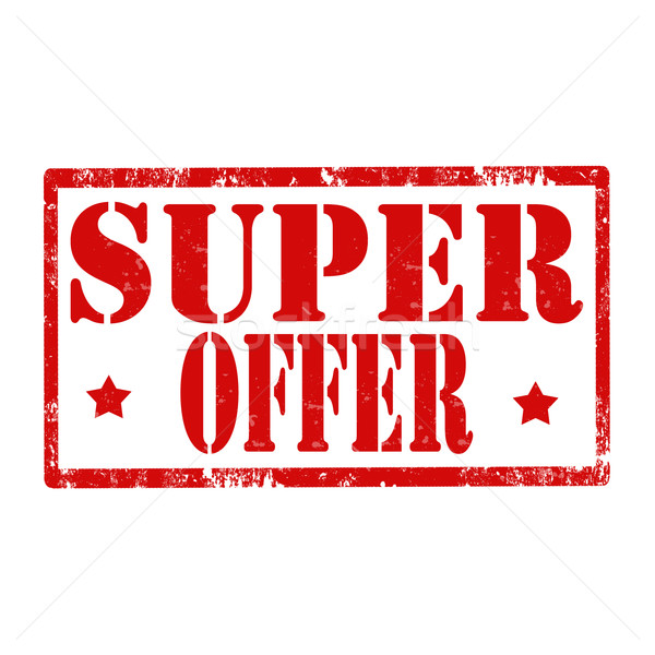Super Offer-stamp Stock photo © carmen2011