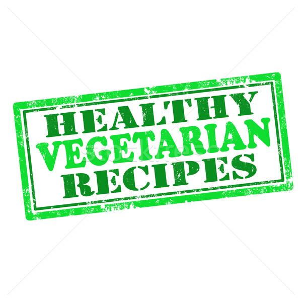 Sani vegetariano ricette grunge testo Foto d'archivio © carmen2011