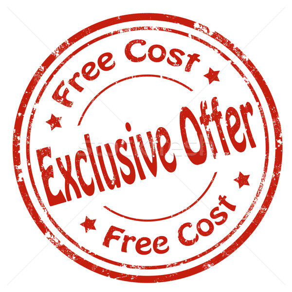 Exclusive Offer-stamp Stock photo © carmen2011