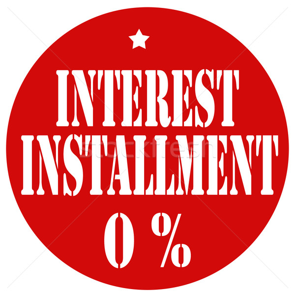 Interest Installment 0% Stock photo © carmen2011