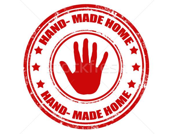 Hand made stamp Stock photo © carmen2011
