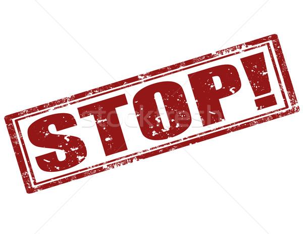 Stop-stamp Stock photo © carmen2011