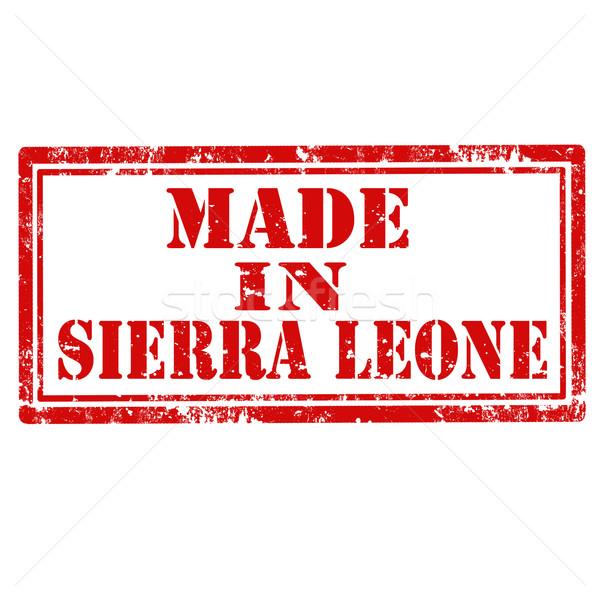 Made In Sierra Leone-stamp Stock photo © carmen2011