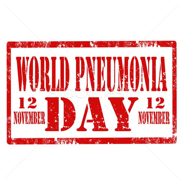 World Pneumonia Day-stamp Stock photo © carmen2011