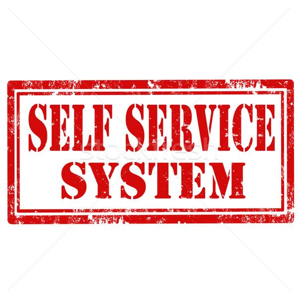 Self Service System-stamp Stock photo © carmen2011