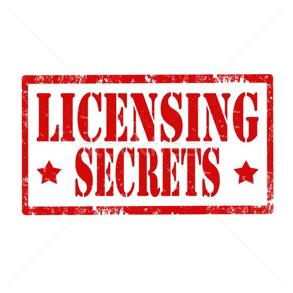 Licensing Secrets-stamp Stock photo © carmen2011