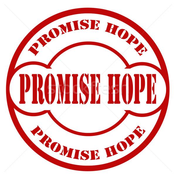Promettre texte bureau espoir caoutchouc Photo stock © carmen2011