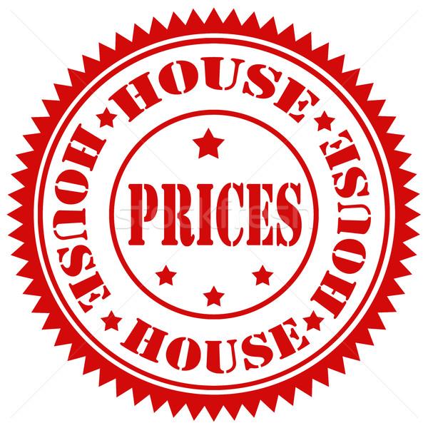 Casa texto negócio preço borracha Foto stock © carmen2011