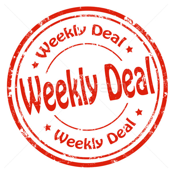 Weekly Deal-stamp Stock photo © carmen2011