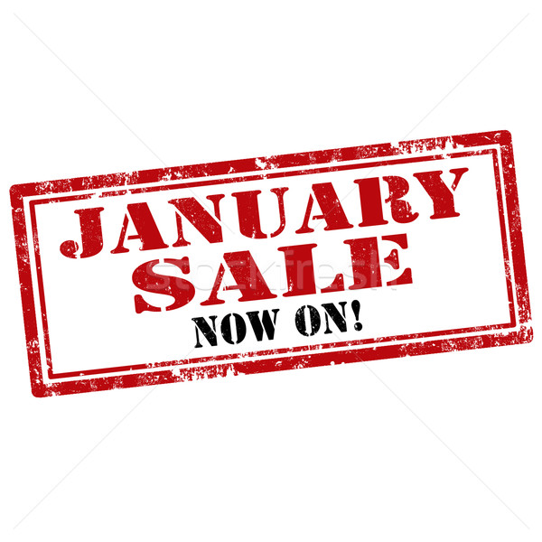 January Sale-stamp Stock photo © carmen2011