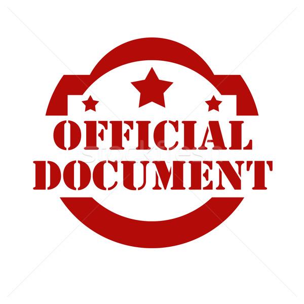 Officieel Rood stempel tekst document rubber Stockfoto © carmen2011