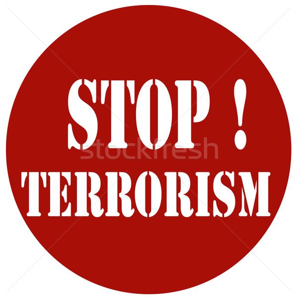 Stockfoto: Stoppen · Rood · stempel · tekst · criminaliteit · protest