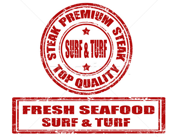 Surf & turf - stamps Stock photo © carmen2011