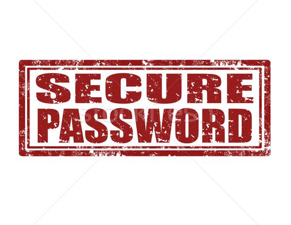 Secure password-stamp Stock photo © carmen2011