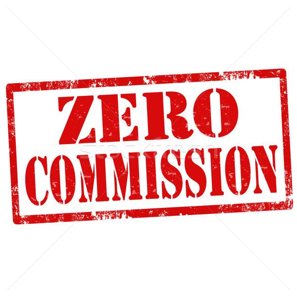 Zero Commission-stamp Stock photo © carmen2011