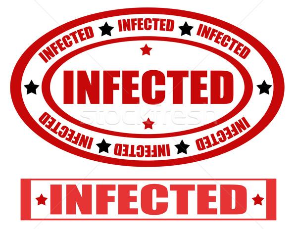 Ayarlamak pulları kelime enfekte sağlık imzalamak Stok fotoğraf © carmen2011