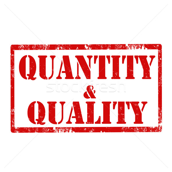 Quantity & Quality-stamp Stock photo © carmen2011