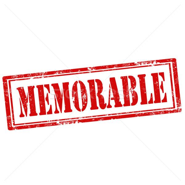 Memorable-stamp Stock photo © carmen2011