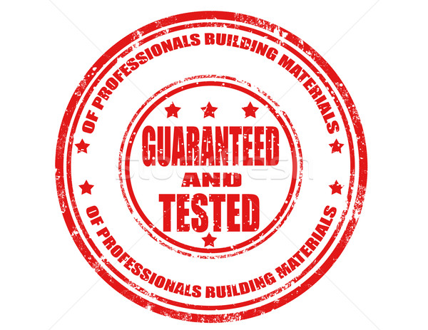 Guaranteed and tested-stamp Stock photo © carmen2011