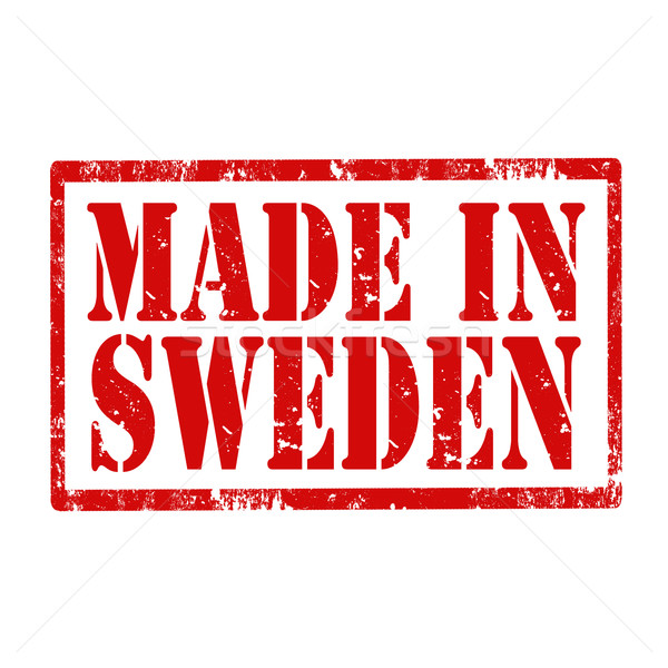 Made In Sweden-stamp Stock photo © carmen2011