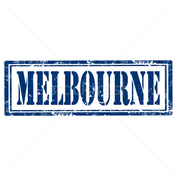 Melbourne-stamp Stock photo © carmen2011