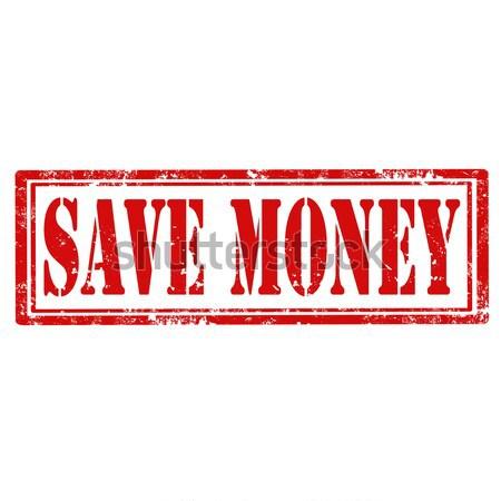 Mentés grunge pecsét szöveg pénz absztrakt Stock fotó © carmen2011