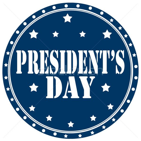 President's Day-label Stock photo © carmen2011