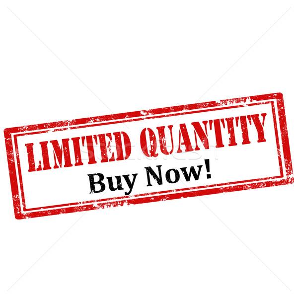 Limited Quantity-stamp Stock photo © carmen2011