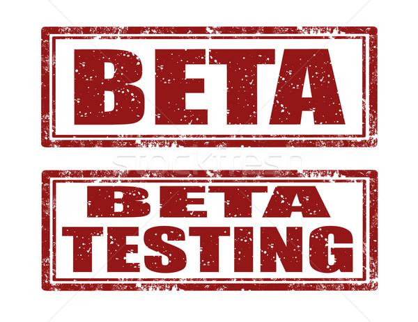 Beta test francobolli set grunge gomma Foto d'archivio © carmen2011