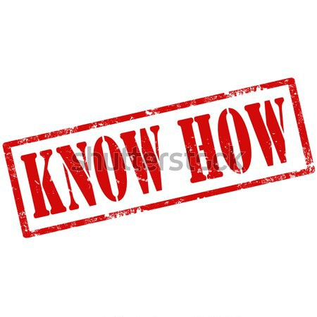 Know How-stamp Stock photo © carmen2011