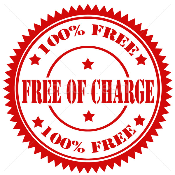 Free Of Charge-stamp Stock photo © carmen2011