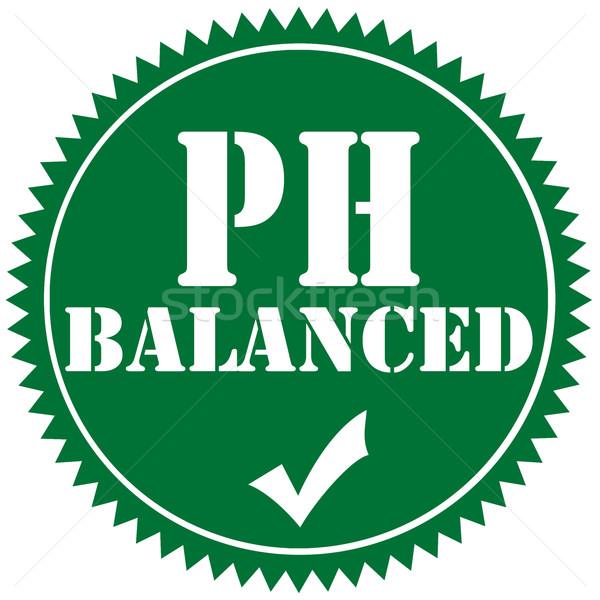PH Balanced-label Stock photo © carmen2011