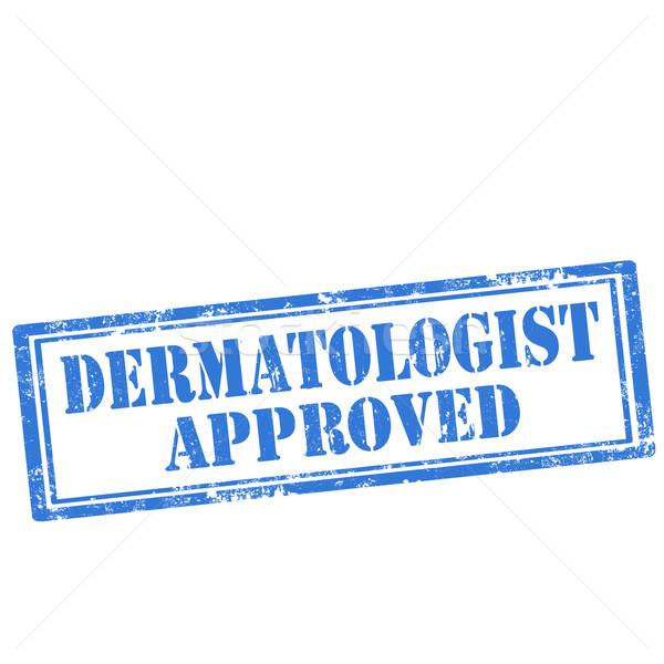 Dermatologist grunge tekst business Blauw Stockfoto © carmen2011