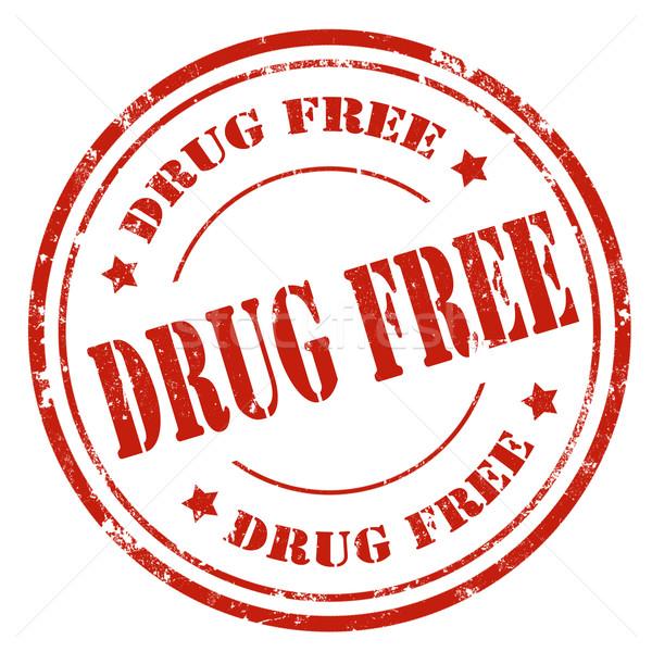 наркотиков свободный Гранж текста красный Сток-фото © carmen2011