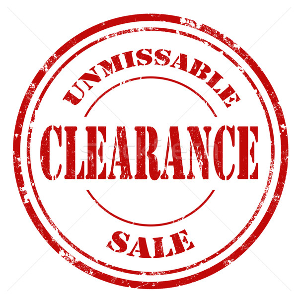 Clearance-stamp Stock photo © carmen2011