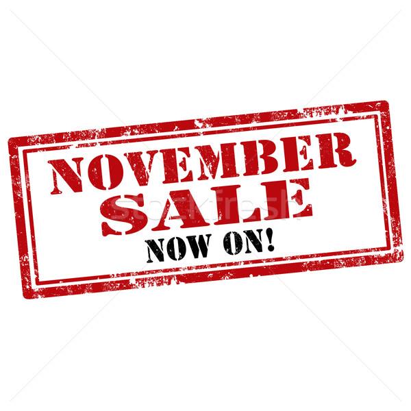 November Sale-stamp Stock photo © carmen2011