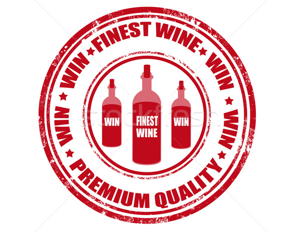 Finest wine - stamp Stock photo © carmen2011