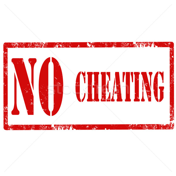 No Cheating-stamp Stock photo © carmen2011