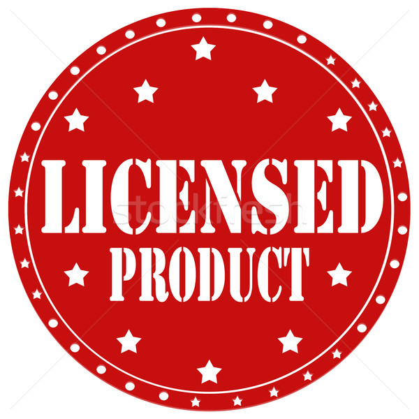 Licensed Product-label Stock photo © carmen2011