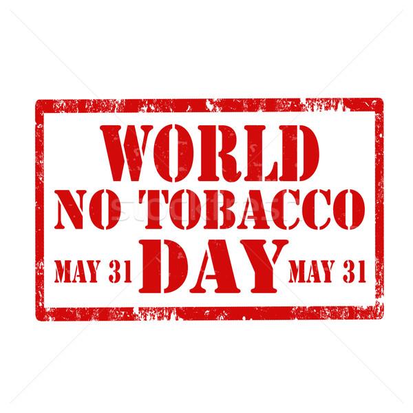 Stock fotó: Világ · nem · dohány · grunge · pecsét · piros